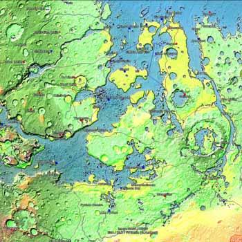 Modified Mars virtual globe: a Google Earth overlay